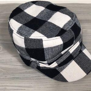 D&Y checkered flannel cadet hat